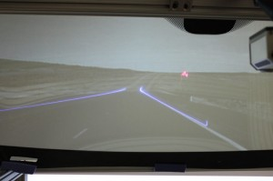 GM image of augmented reality windshield display