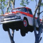 image of truck in cherry tree