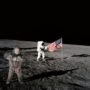 moon landing with gorilla